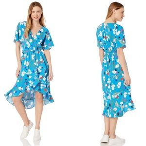 J. Crew Mercantile Floral High Low Faux Wrap Dress